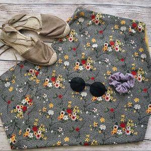 Vintage Floral Pencil Skirt Size XXS
